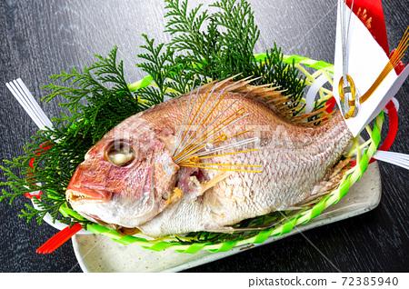烤鯛魚的形象 72385940