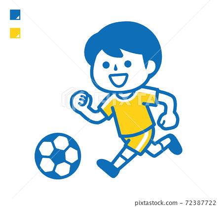 踢足球的男孩 72387722
