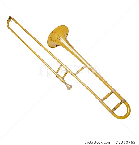 The brass trombone one of the music instrument of the orchestra 72390765