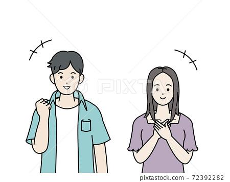 微笑,高興,年輕的男人和女人,破產 72392282
