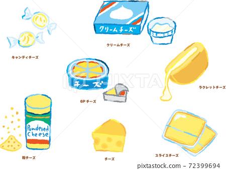 手寫的風格奶酪插圖集 72399694