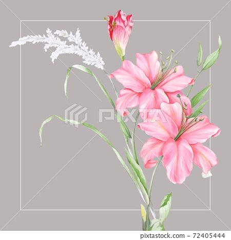 色彩豐富的花卉素材組合和設計元素 72405444