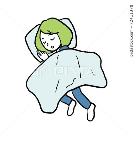낮잠을 여성의 일러스트 72411378