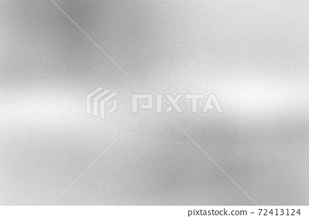Glowing gray silver foil metal wall with copy space, abstract texture background 72413124
