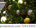 Decorated Christmas tree with colorful ball 72415093