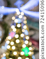abstract  blurred   background of christmas  lighting 72415096