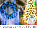 abstract  blurred   background of christmas  lighting 72415100