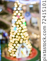 abstract  blurred   background of christmas  lighting 72415101
