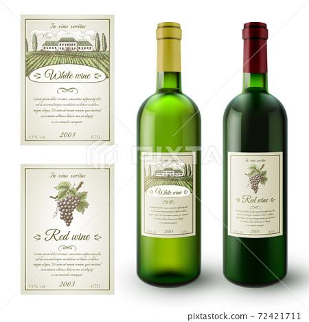 Wine Labels Set 72421711
