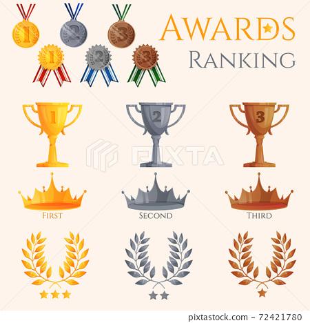 Ranking icons set 72421780