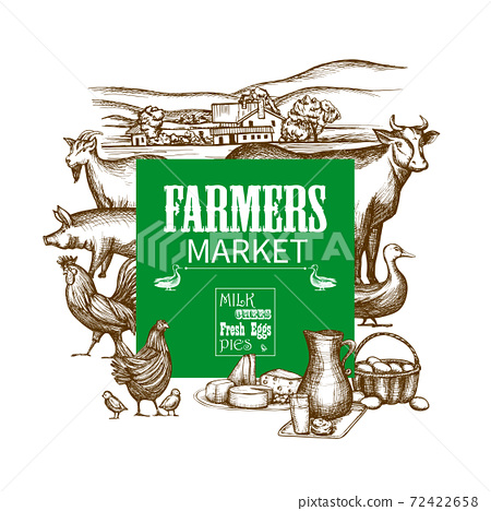 Farm Market Frame 72422658