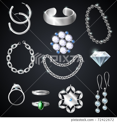 Jewelry Silver Set 72422672