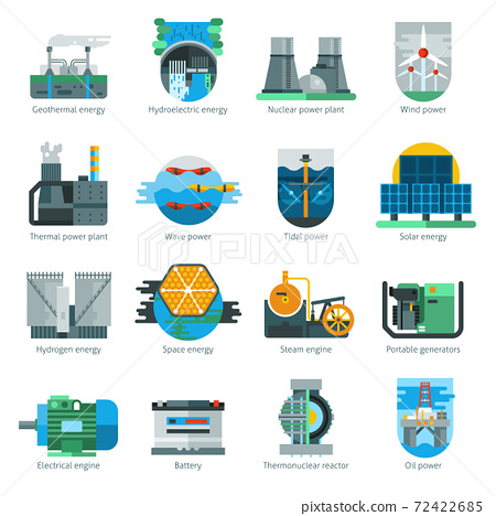 Energy Production Icons 72422685