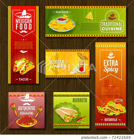Mexican Food Banner Set 72422689