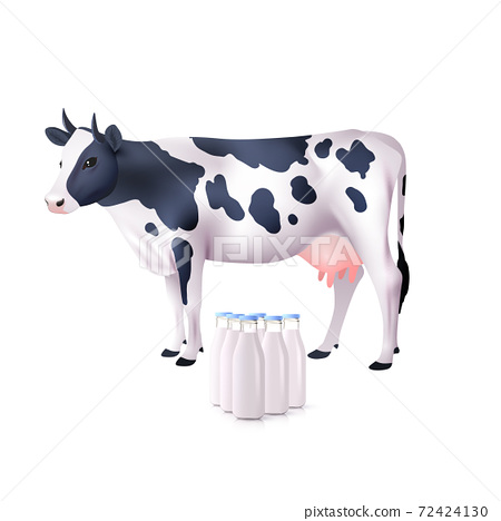 Cow And Milk Bottles 72424130
