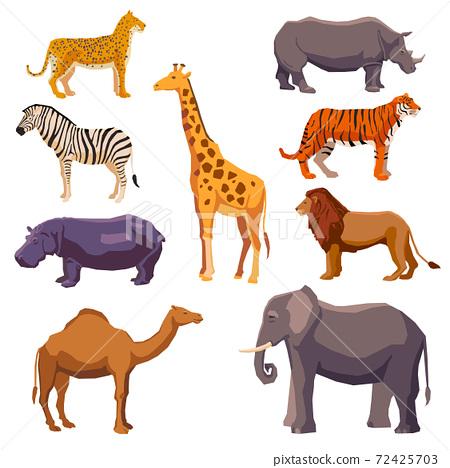 Africa animal decorative set 72425703