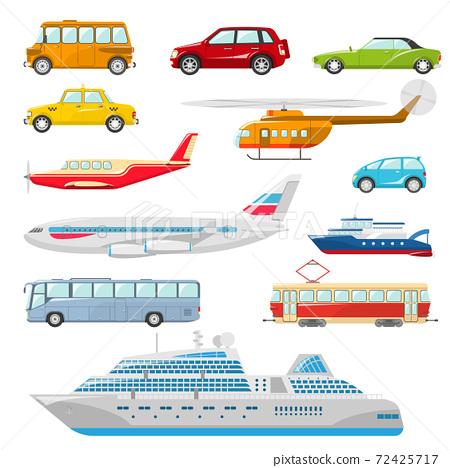Transport Icons Flat 72425717