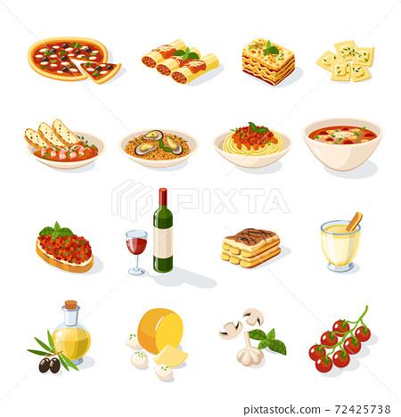 Italian Food Set 72425738