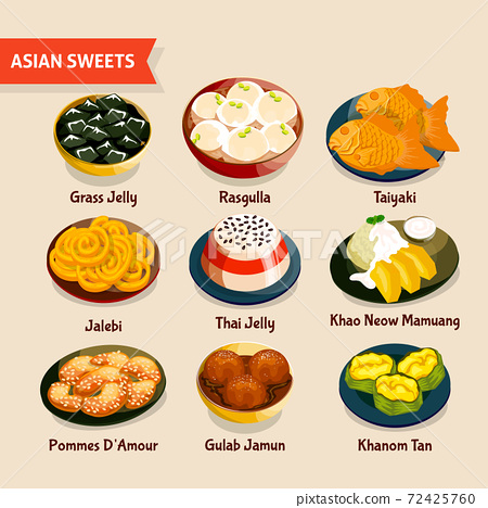 Asian Sweets Set 72425760