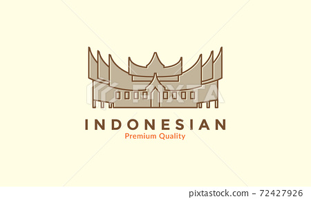Indonesian traditional culture home vintage logo vector icon design illustration 72427926