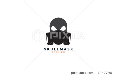 respirator mask with skull face logo vector icon illustration design 72427981