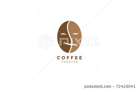coffee bean mask theater logo vector icon illustration design 72428041