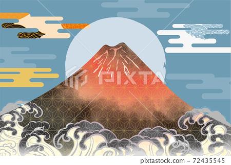일본 후지산의 아름다운 일본식 이미지 배경 일러스트 72435545