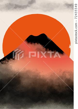 일본 후지산의 아름다운 일본식 이미지 배경 일러스트 72435549