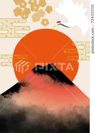 일본 후지산의 아름다운 일본식 이미지 배경 일러스트 72435550
