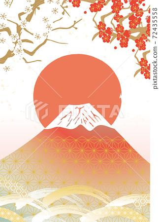일본 후지산의 아름다운 일본식 이미지 배경 일러스트 72435558