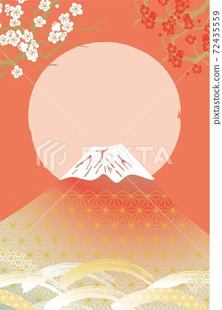 일본 후지산의 아름다운 일본식 이미지 배경 일러스트 72435559