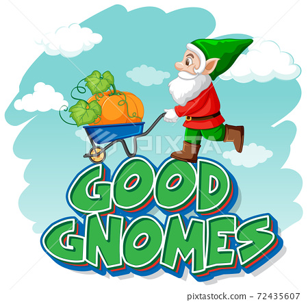 Good gnome logo with mermaids on undersea background 72435607
