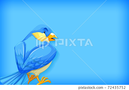 Background template with plain color and blue bird 72435752