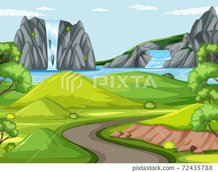 Outdoor green nature background 72435788