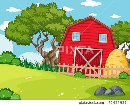 Empty background nature farm scenery 72435931