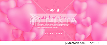abstract happy valentine's day sale banner for advertising 72439390