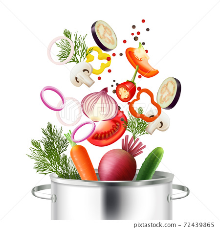 Vegetables And Pot Concept 72439865