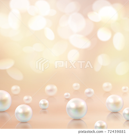 Pearls Beads Bokeh Background 72439881