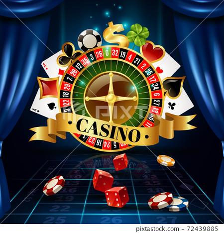 Casino Night Games Symbols Composition Poster 72439885