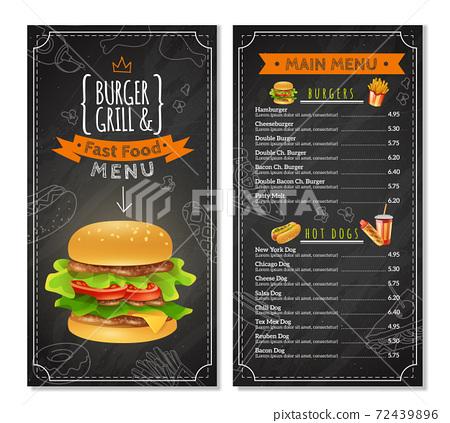 Fast Food Menu 72439896