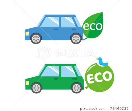 生態駕駛生態車的形象 72440233