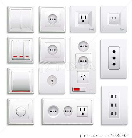 Switches And Sockets Realistic Set 72440406