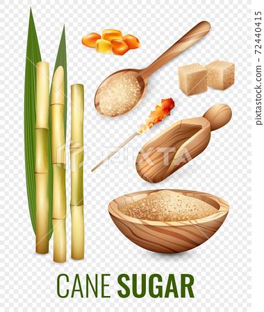 Cane Sugar Transparent Set 72440415