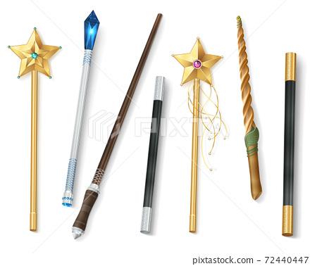 Magic Wand Realistic Set 72440447