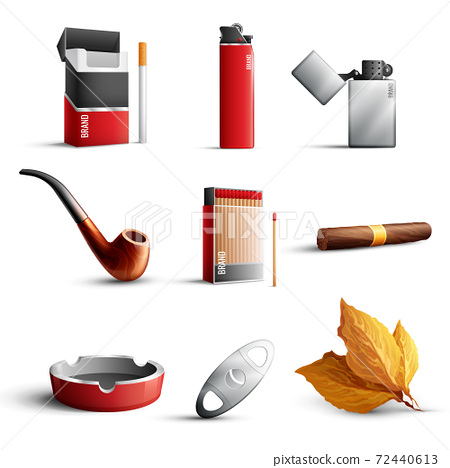 Tobacco Products Realistic Set 72440613
