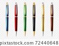 Business Pen Transparent Icon Set 72440648