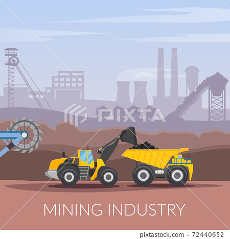 Mining Industry Flat Composition 72440652