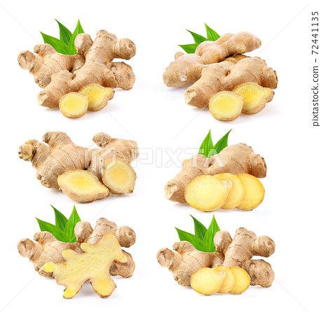 ginger on white background 72441135