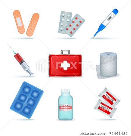 First Aid Kit Realistic Set 72441483