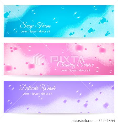 Soap Foam Realistic Banners 72441494